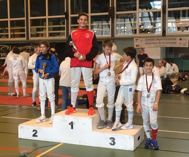 Podium Championnat de Gironde, 10 juin 2018